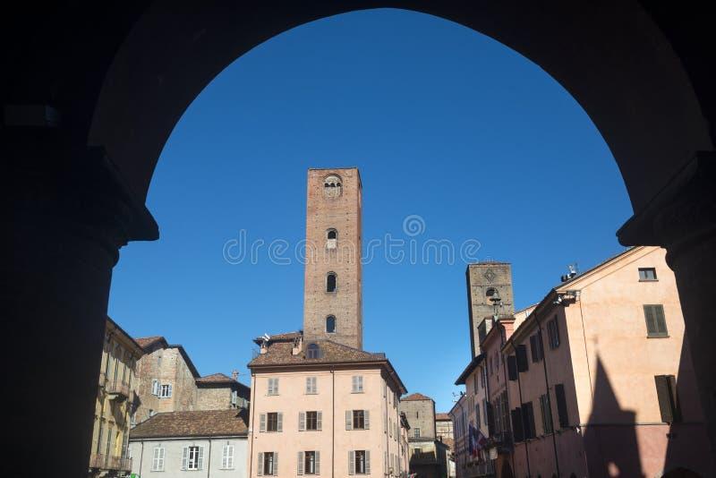 Alba (Cuneo, l'Italia) fotografie stock libere da diritti