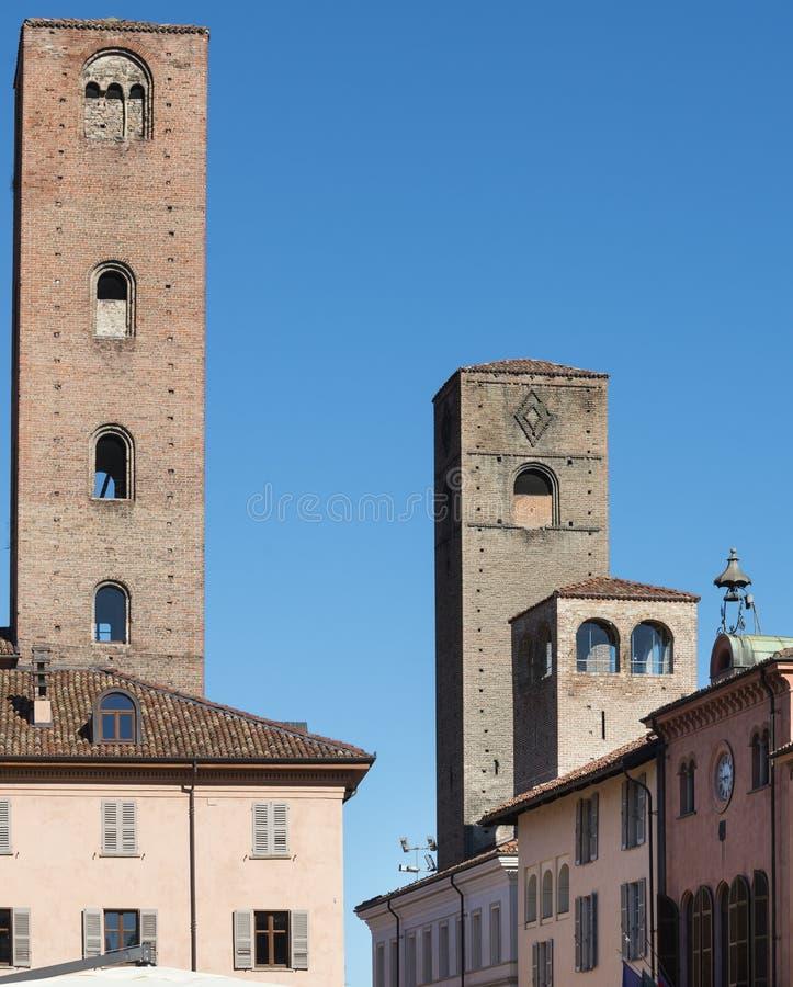 Alba (Cuneo, l'Italia) fotografia stock libera da diritti