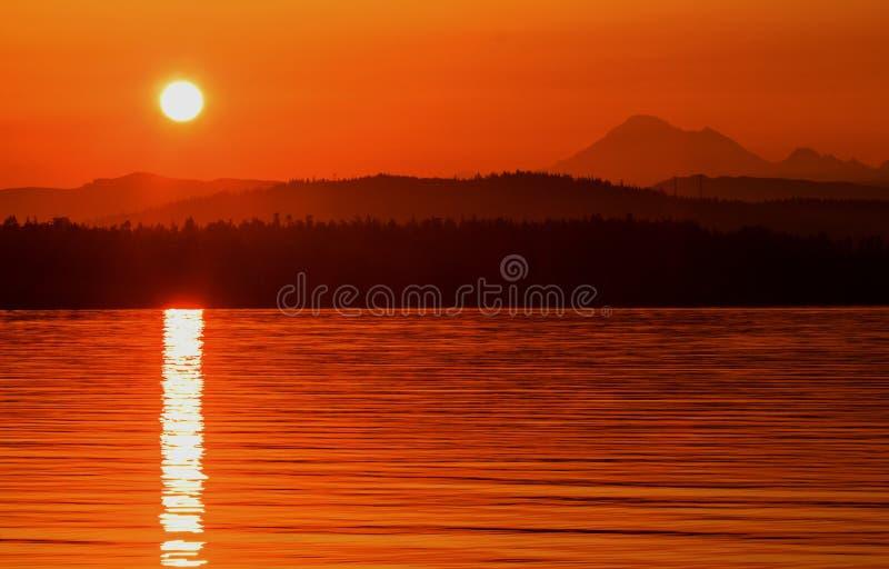 Alba da Anacortes, Washington State immagine stock libera da diritti