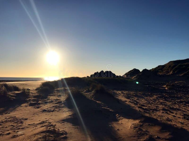Alba dalla montagna in Aberdeenshire fotografie stock libere da diritti