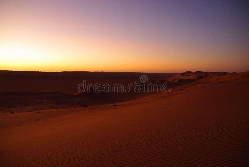 Alba del deserto immagini stock libere da diritti