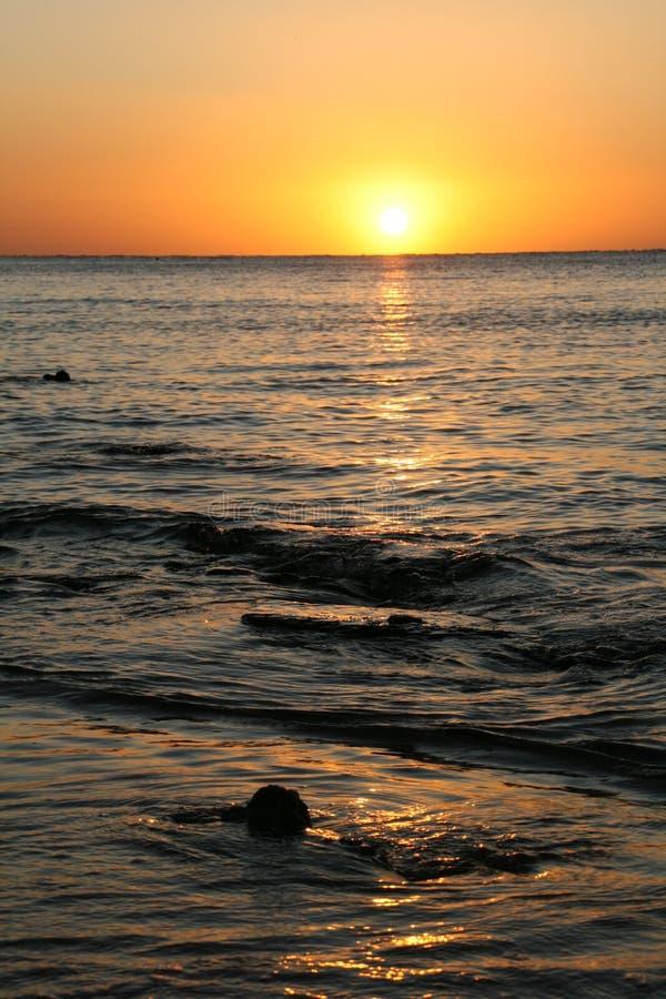 Alba del mare. L'Egitto immagine stock