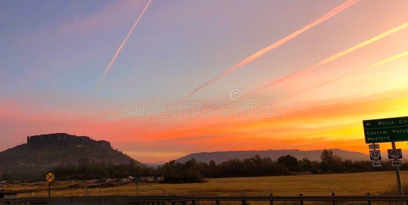 Alba del sud dell'Oregon immagine stock libera da diritti