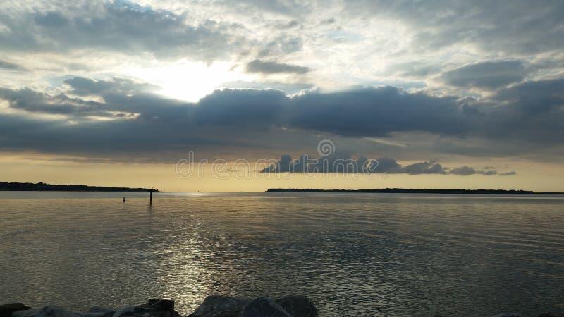 Alba dell'isola di Solomons fotografie stock libere da diritti