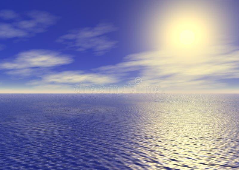 Alba dell'oceano illustrazione vettoriale