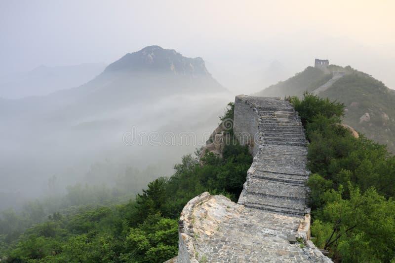 Alba della grande muraglia, adobe rgb immagine stock