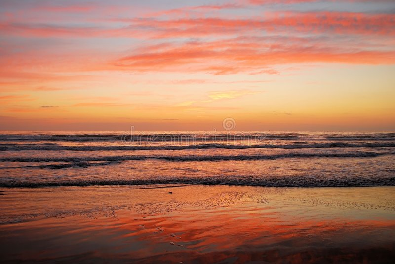 Alba della spiaggia fotografie stock