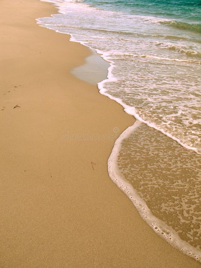 Alba della spiaggia fotografia stock