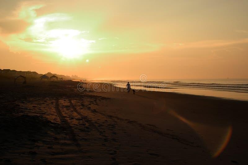 Alba della spiaggia, North Carolina fotografie stock