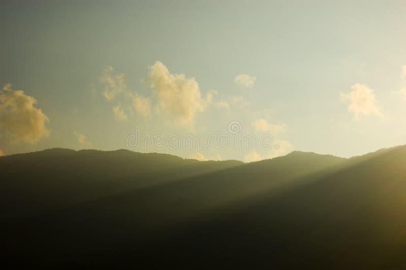 Alba di Banaue fotografie stock