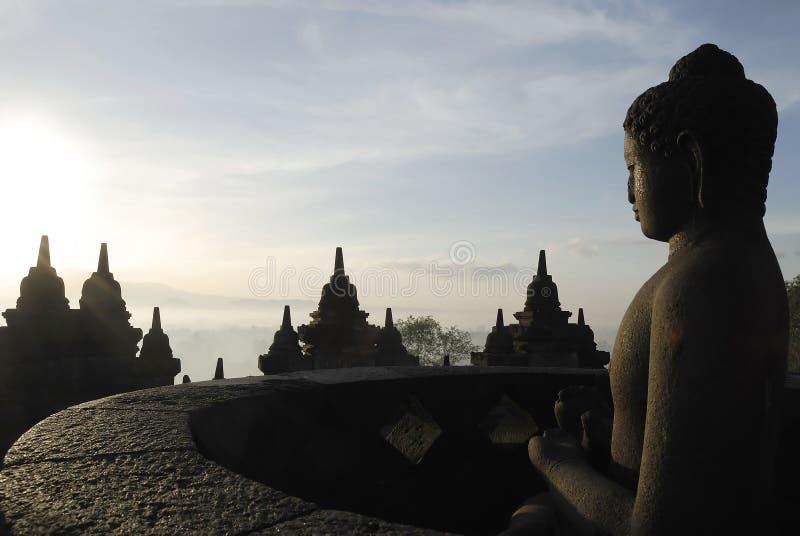 Alba di Borobudur fotografia stock