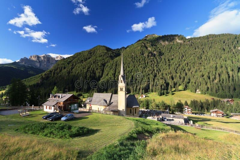 Alba di Canazei - Val di Fassa lizenzfreie stockbilder