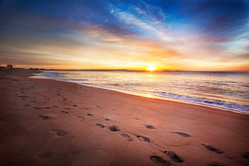 Alba di estate della Maine fotografia stock libera da diritti