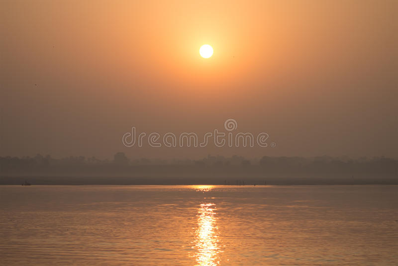 Alba di Ganga fotografia stock