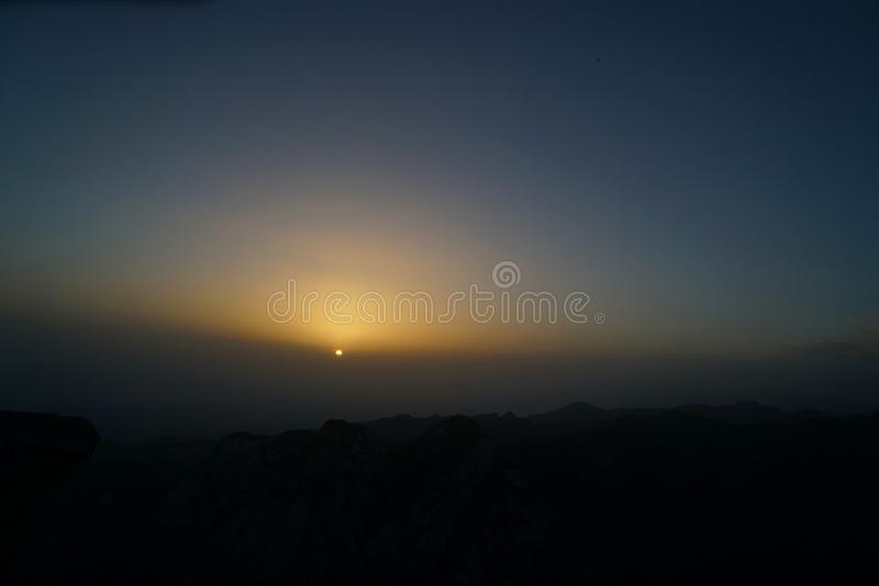 Alba di Huashan della montagna immagini stock libere da diritti