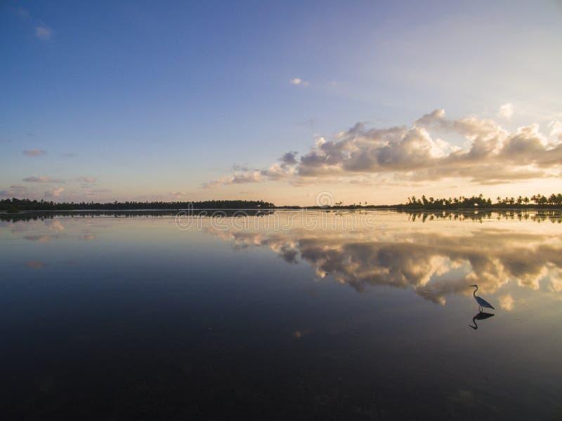 Alba di Kulhi della città di Addu fotografia stock