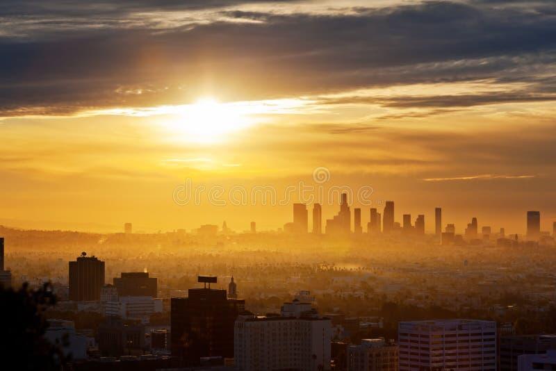 Alba di Los Angeles immagini stock libere da diritti