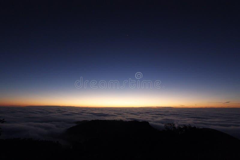 Alba di luce solare fotografia stock