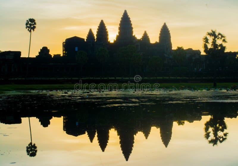 Alba di mattina a Angkor Wat immagine stock