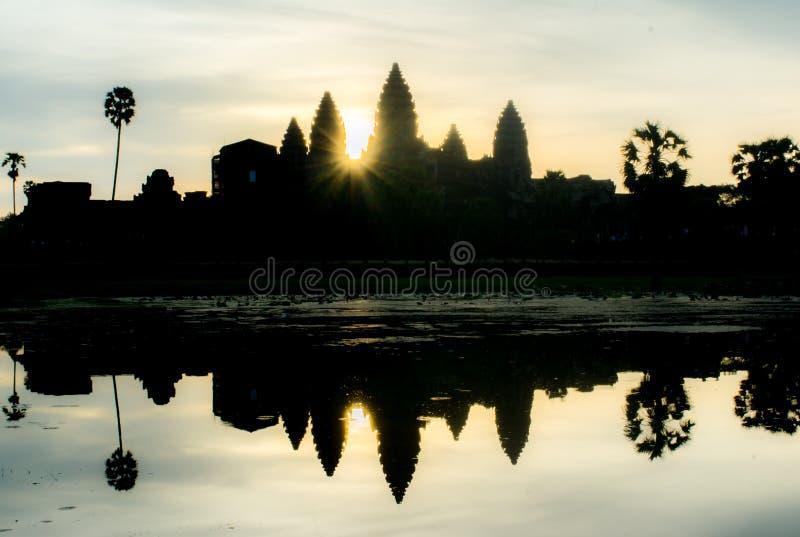 Alba di mattina a Angkor Wat immagine stock libera da diritti