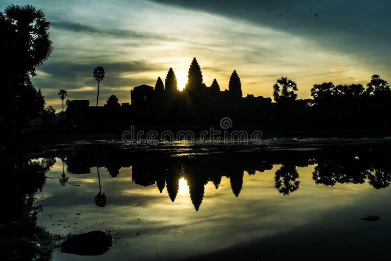 Alba di mattina a Angkor Wat fotografia stock