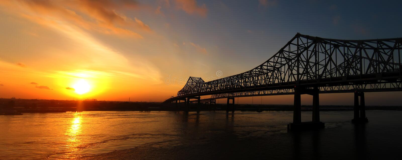 Alba di New Orleans immagini stock