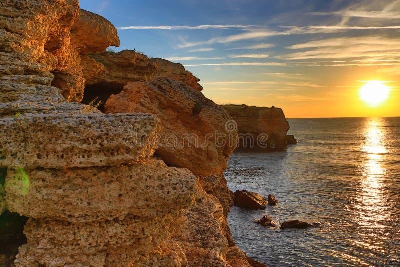 Alba di pietra Bulgaria di Kamen Bryag della costa fotografia stock libera da diritti