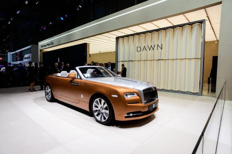 Alba di Rolls Royce fotografia stock