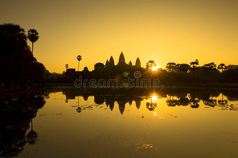 Alba di Siem Reap Angkor Wat immagine stock libera da diritti