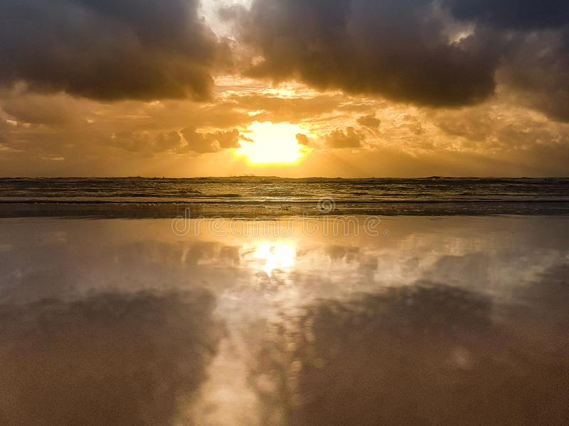 Alba dorata Queensland fotografia stock