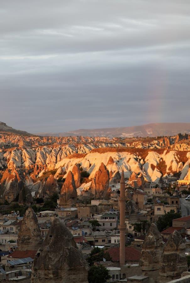 Alba e Rainbow Gerome Turchia immagini stock