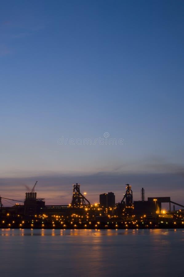 Alba industriale fotografia stock