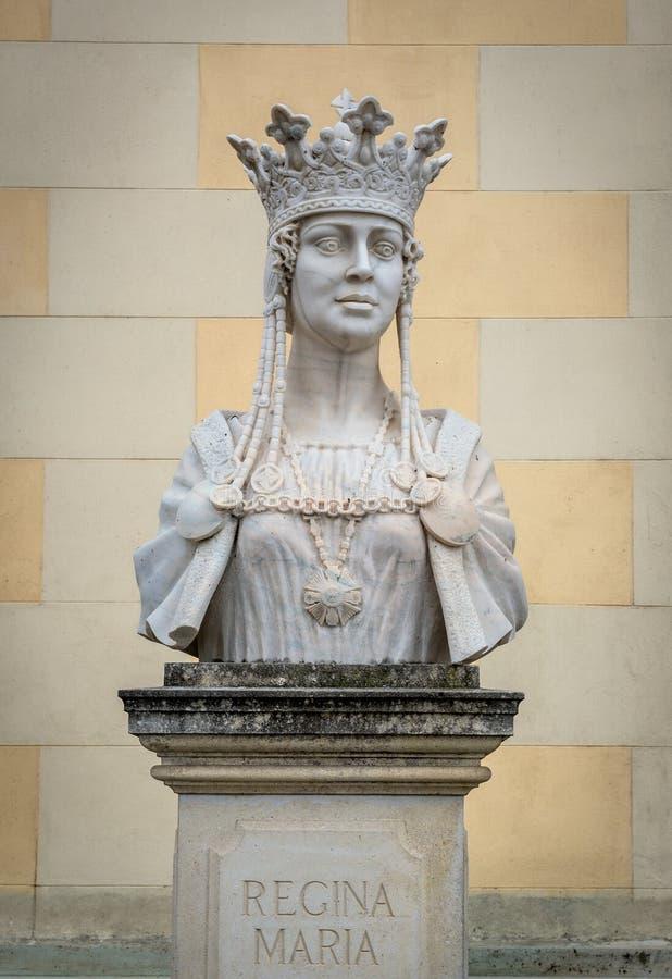 Alba Iulia Citadel. Marie of Romania bust in Citadel of Alba Iulia city in Romania royalty free stock photos