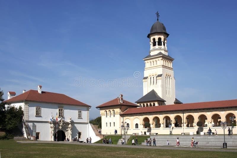 Alba Iulia citadel. Orthodox church in alba iulia citadel, romania stock photo