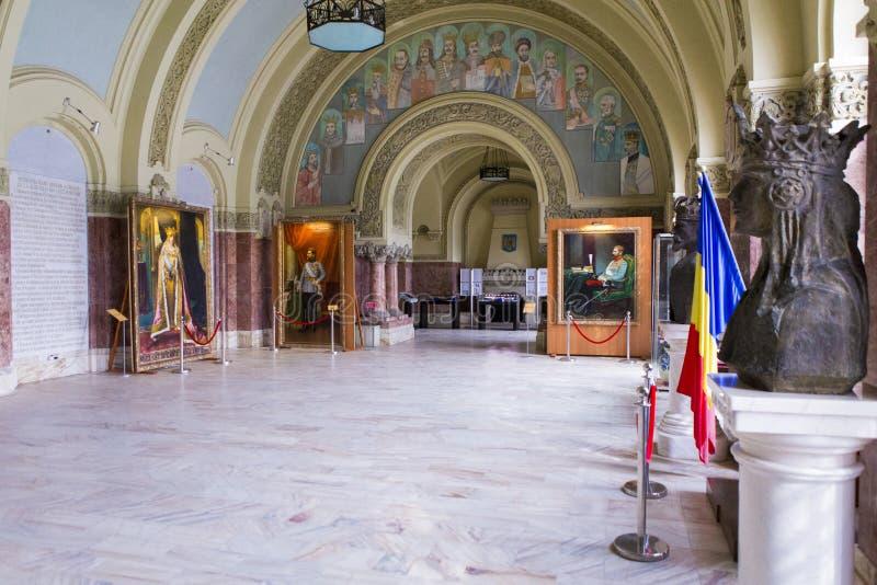 Alba Iulia landmarks - Union Museum. Union Museum from Alba Iulia, Romania. View of the main room stock photos