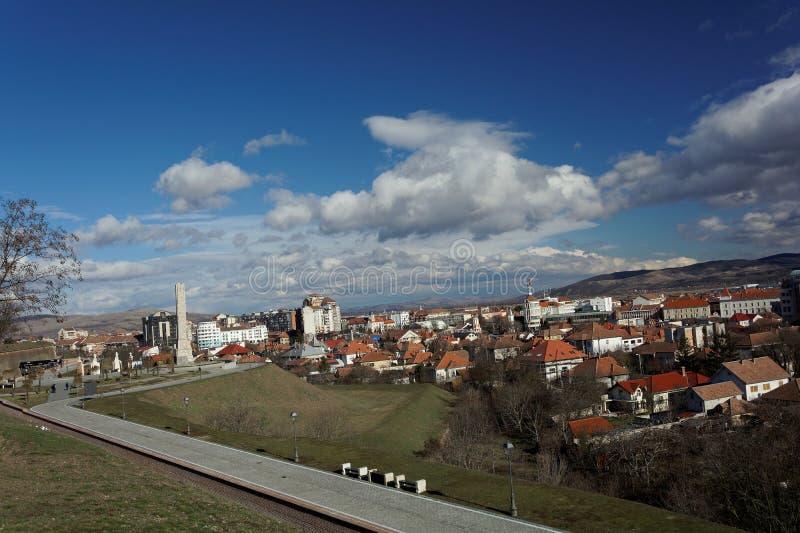 Alba-Iulia. Alba Iulia (Latin: Apulum, German: Karlsburg/Weißenburg, Hungarian: Gyulafehérvár, former Turkish: Erdel Belgradı) is a city in Alba stock photography