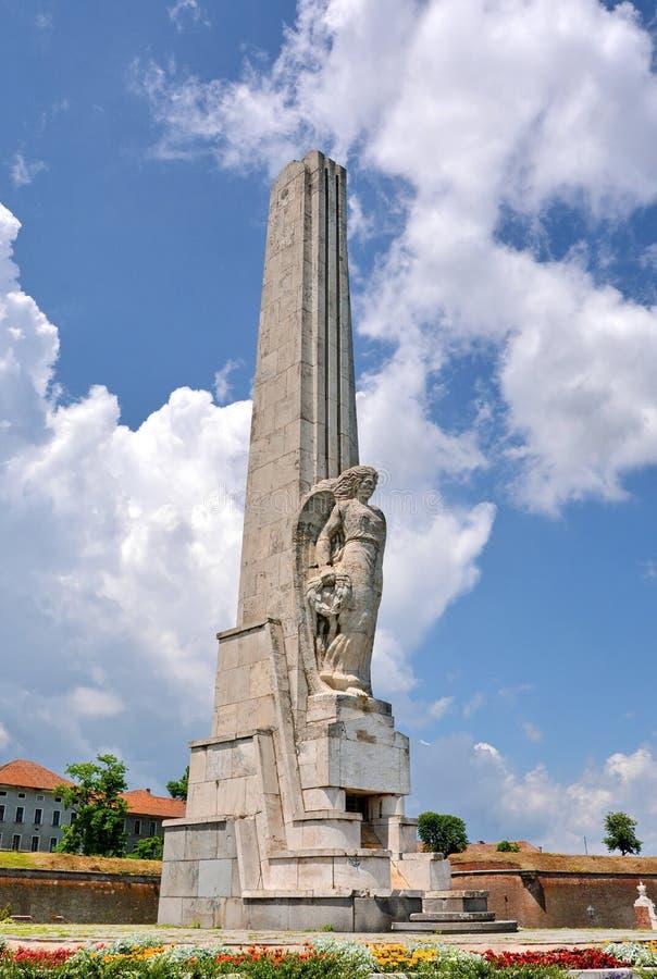 Alba Iulia Obelisk foto de stock royalty free