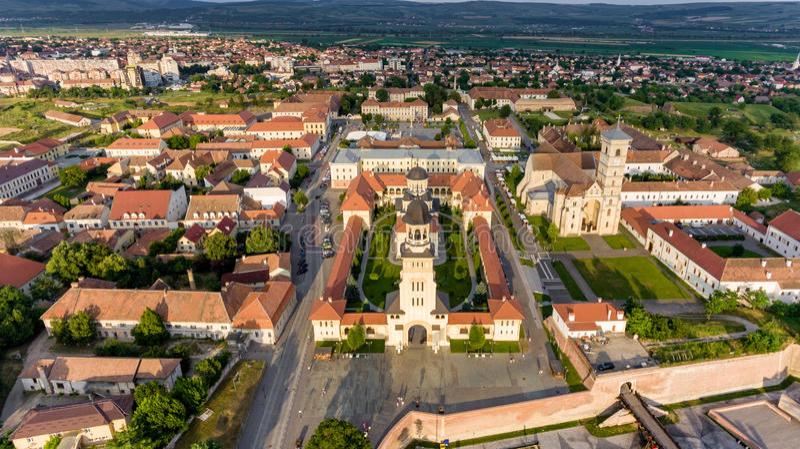 Alba Iulia panorama arkivbild