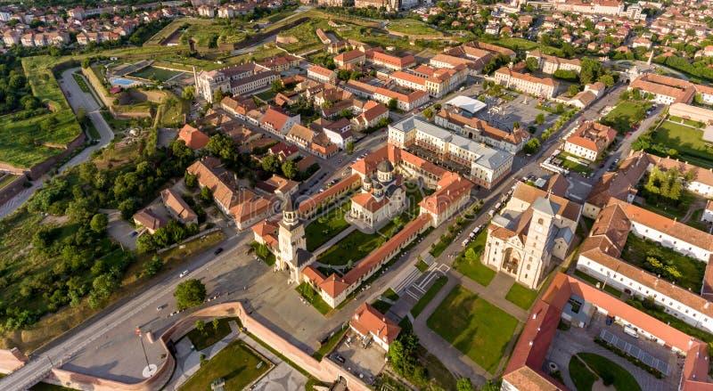 Alba Iulia panorama arkivfoton