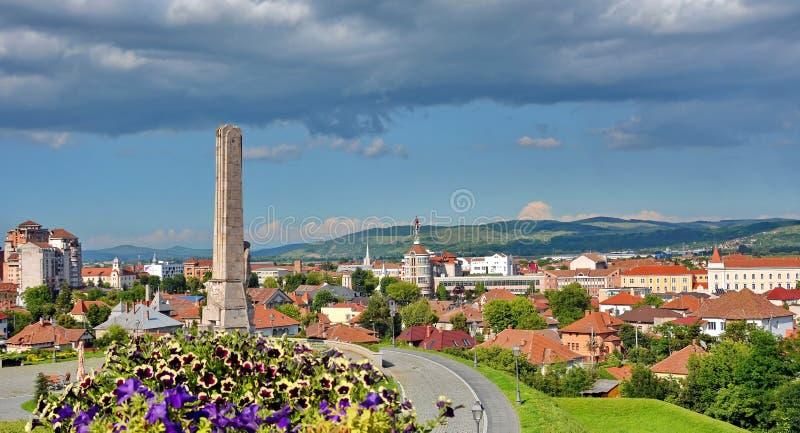 Alba Iulia, Romania. Aerial view of Alba Iulia town Romania royalty free stock images
