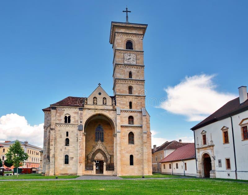 Alba Iulia, Romania. Catholic cathedral in Alba Iulia, Romania stock images