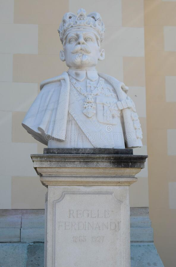 Free Alba Iulia, Romania - September 20, 2020. Marble Bust Statue Of The Second King Of Romania, King Ferdinand I, Placed In Front Of Stock Images - 202495894