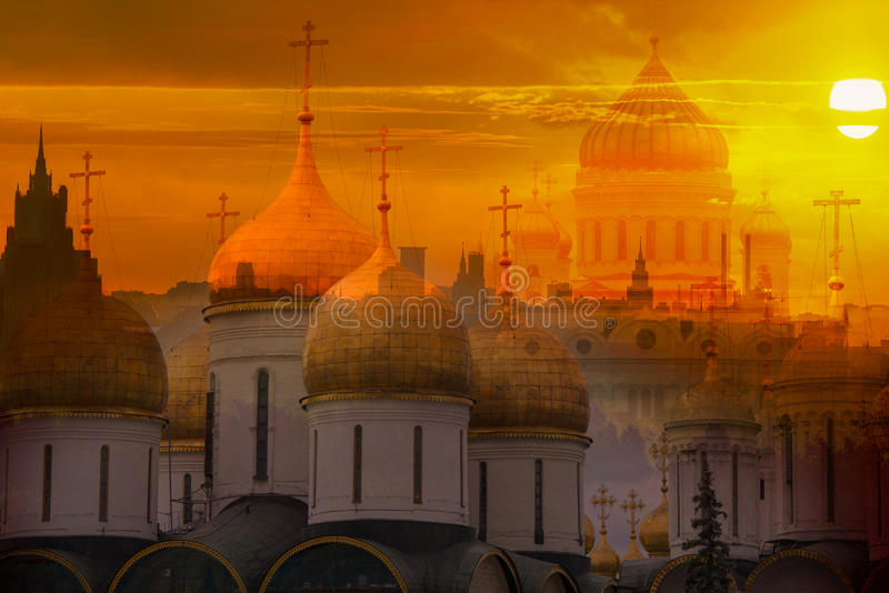 Alba a Mosca fotografia stock