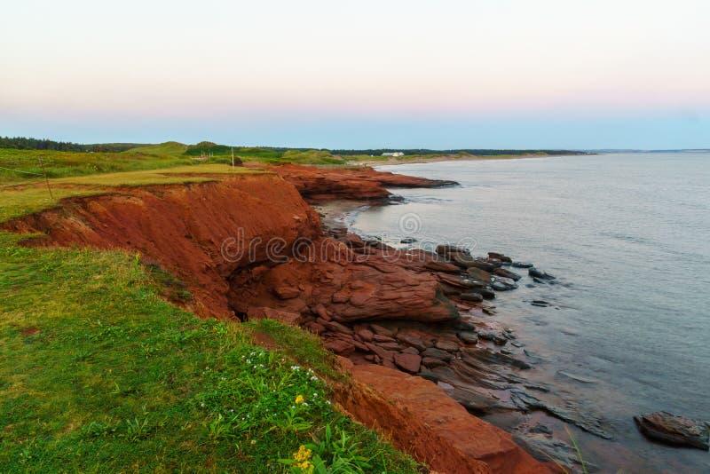 Alba nel Oceanview Lookoff, Cavendish, PEI immagini stock libere da diritti