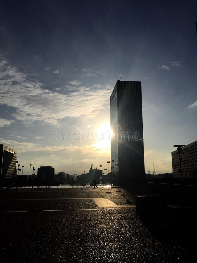Alba a Parigi immagine stock libera da diritti