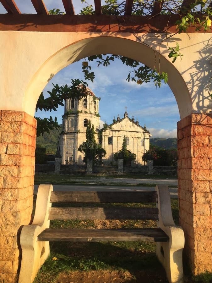 Alba presa a Oslob Cebu fotografie stock libere da diritti