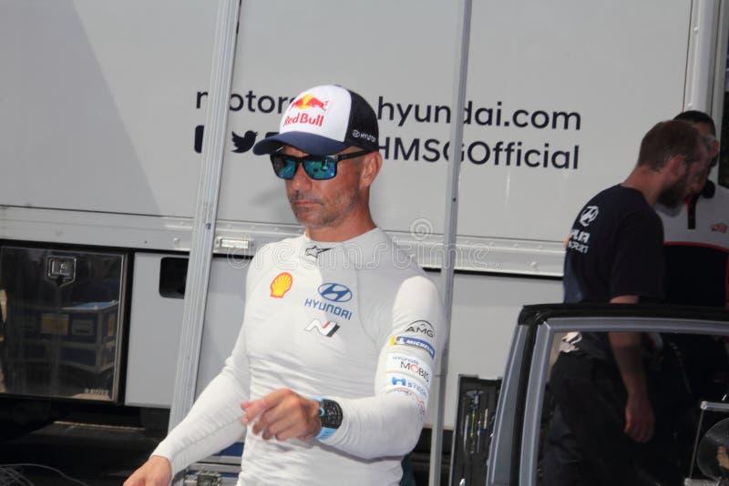Alba Rally July 28 2019: Sebastien Loeb driver nine times world rally champion royalty free stock images