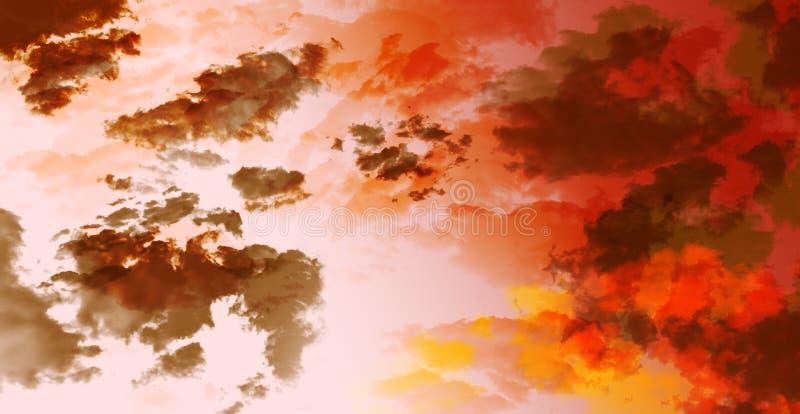 Alba rossa di tramonto del cielo del fondo astratto fotografie stock libere da diritti