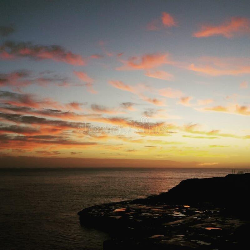 Alba scenica sopra il Mediterraneo fotografia stock libera da diritti