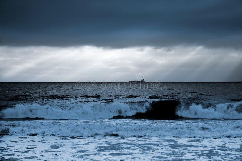 Alba sea-Bulgaria-2008 nero immagine stock libera da diritti